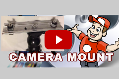 Camera mount in mobile video studio.