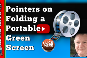 Folding a portable green screen principles
